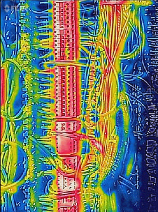 flir thermal image of connector strip
