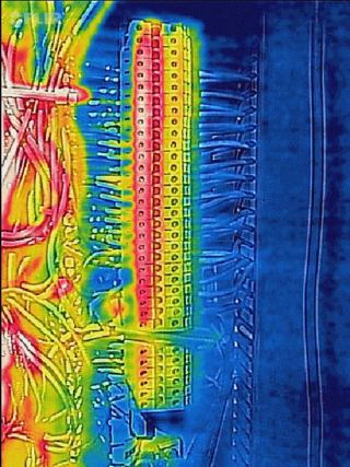 flir thermal image of connector strips